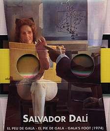 Salvador Dali Le Pied de Gala - vue stéréoscopique