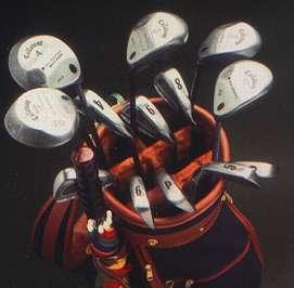 Clubs de Golf - vue stéréoscopique