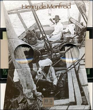 Mon boutre, Lavigne à la barre, repas de l'équipage, photographie Henry de Monfreid - Visionneuse 3D
