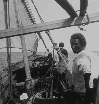 A bord du Fath el Rahman, photographie Henry de Monfreid vers 1914