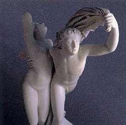 ZÉPHIR ET PSYCHÉ, a sculpture by Henri-Joseph RUTXIEL - stereoscopic view