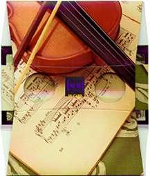 Un violon et une partition - Visionneuse stéréoscopique