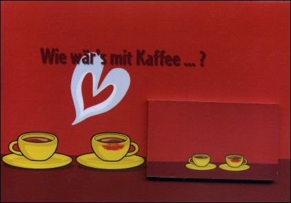 COFFEE IN LOVE - A flip-book and its greetings card (Germany - 2007) - the flip-book and the greetings card