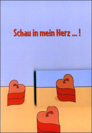 REGARDE DANS MON COEUR ! - Un flip-book et sa carte de voeux (Allemagne - 2007) - Le flip-book et la carte de voeux