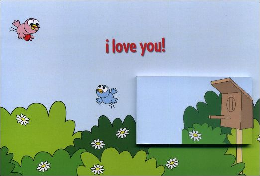 I LOVE YOU ! - A flip-book and its greetings card (Germany - 2007)