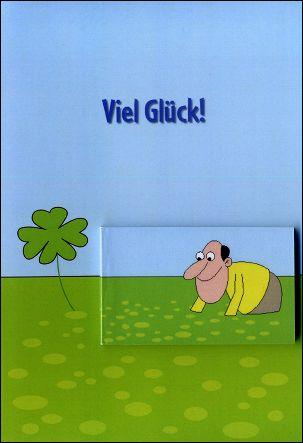 BONNE CHANCE ! - Un flip-book et sa carte de voeux (Allemagne - 2007) - Le flip-book et la carte de voeux