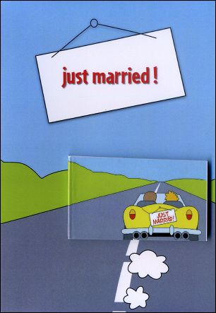 JUST MARRIED ! - A flip-book and its greetings card (Germany - 2007)