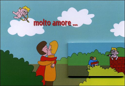MOLTO AMORE... - A flip-book and its greetings card (Germany - 2007) - the flip-book and the greetings card