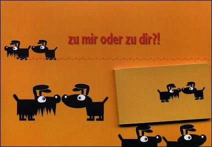 ON SORT ENSEMBLE ? - Un flip-book et sa carte de voeux (Allemagne - 2007) - Le flip-book et la carte de voeux