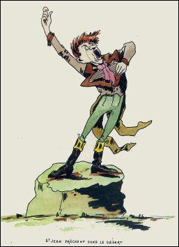 Bible Express Illustrée - un livre de GABBY (France-1896) - Saint Jean prêchant dans le désert