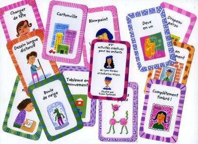 52 activités créatives pour les enfants - Quelques cartes