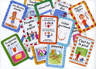 52 activités à faire après l'école - Quelques cartes