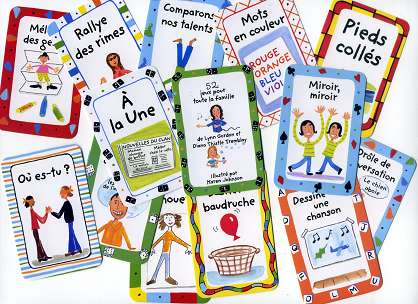 52 Fun Family Games - Few cards in French