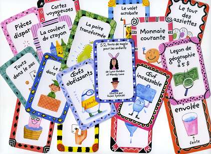 52 Cool Tricks for Kids - Few cards in French