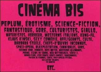 Cinéma Bis - Dos du livre
