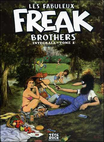Les fabuleux FREAK BROTHERS de Gilbert SHELTON - couverture du volume 2