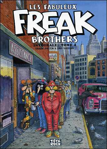 Les fabuleux FREAK BROTHERS de Gilbert SHELTON - couverture du volume 4