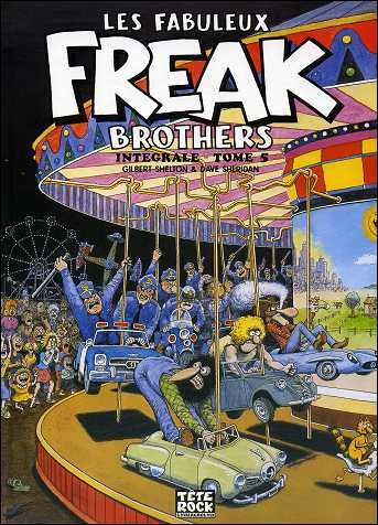 Les fabuleux FREAK BROTHERS de Gilbert SHELTON - couverture du volume 5