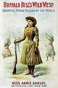 Affiche du Buffalo Bill Wild West Show représentant Annie OAKLEY