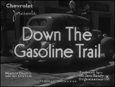 DOWN THE GASOLINE TRAIL - An advertise movie for CHEVROLET Division