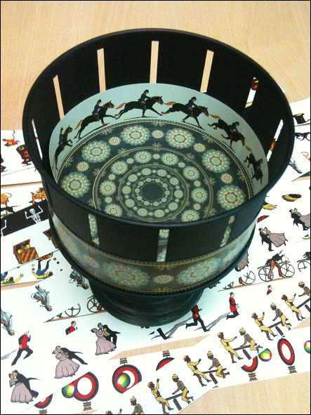 The Zoetrope with its animated strips