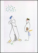 The sweeper (Mon Oncle - 1958) Drawing Pierre Etaix
