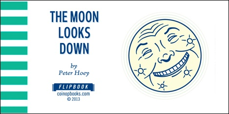 THE MOON LOOKS DOWN - Cover by Peter HOEY