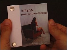 Juliana. Siesta auf Golos Kanapee - a flip book by Wiebe K. FÖLSCH (Germany - 2005) - cover