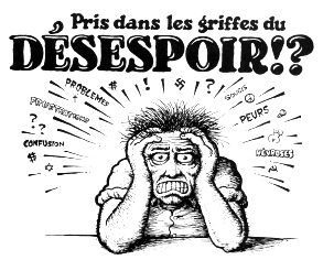Caught In The Grips Of Despair by Robert Crumb