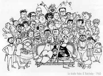 Le studio HALAS & BATCHELOR en 1960 - caricature