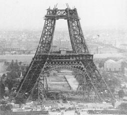 The Eiffel Tower on July 10, 1888
