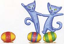 Are Blue Cats Dancing on the Eggs for Fun ?