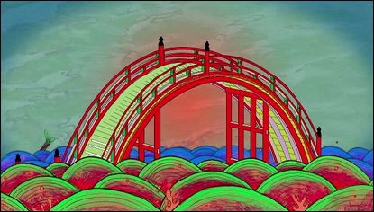 RED COLORED BRIDGE un film de Keiichi Tanaami