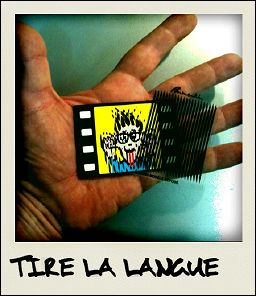 TIRE LA LANGUE - the card seen on photograph
