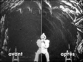 Examples of images restoration of Méliès' films by the ECLAIR studios