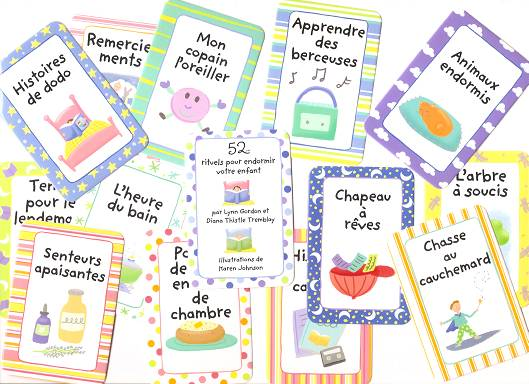 52 Sleepytime Rituals for Kids - Few cards in French