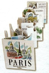 The pop-up book panorama in Paris by Sarah McMenemy unfolded