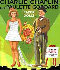 CHARLIE CHAPLIN and PAULETTE GODDARD PAPER DOLLS-(Couverture recto)