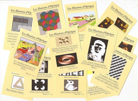 Few optical illusions cards