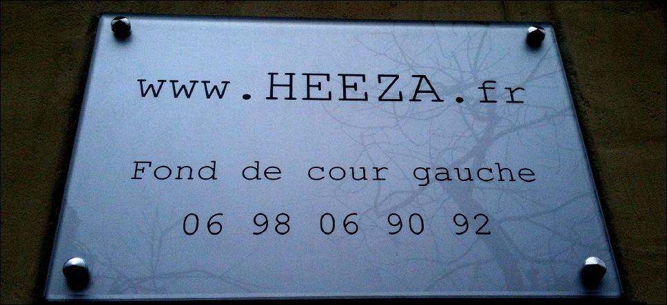 La nouvelle plaque HEEZA !