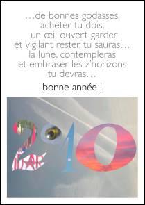 Voeux de l'année 2010 par Sarah NOCHER (France)