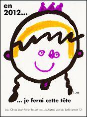 Voeux de l'année 2012 par Lou, Olivia et Jean-Pierre BECKER (France)