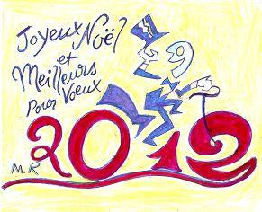 Voeux de l'année 2012 par Michel ROUDEVITCH (France)