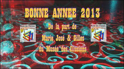 VOEUX 2013 de Marie José & Gilles (France)